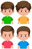 Set van mannelijk karakter vector