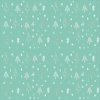 Kerstboom schetsen naadloze patroon vector