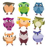uilen karakter vector ontwerp