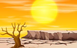 Een scène van het droogtelandschap