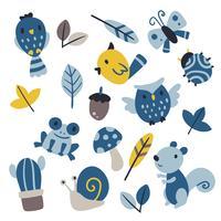 wildlife vector collectie ontwerp