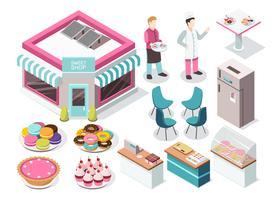 Sweet Shop isometrische set