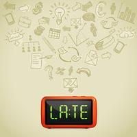 zakelijke laattijdigheid concept