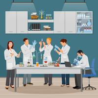 Wetenschap en laboratoriumillustratie