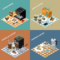 Koffie isometrisch ontwerpconcept