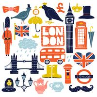 Londen oriëntatiepunten ingesteld vector