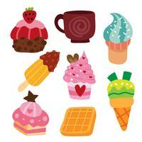 dessert vector collectieontwerp