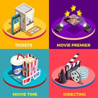 Film tijd ontwerpconcept