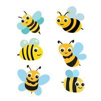 bijenkarakter vectorontwerp vector