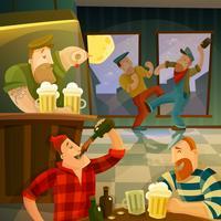 Irish Pub-achtergrond vector