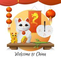 Welkom bij China Illustratie 2 vector