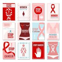 Banners voor borstkanker vector