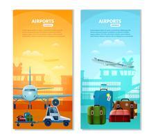 Verticale Banners van de luchthaven