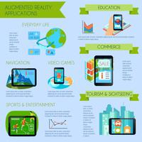 Augmented Reality Infographic Set vector