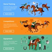 Paardenstijgende sportbanners