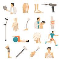 Orthopedie gekleurde pictogrammen instellen