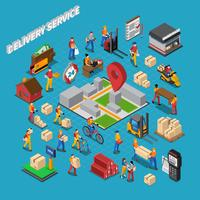Levering Service Concept Samenstelling vector