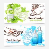 Handen wassen banners vector