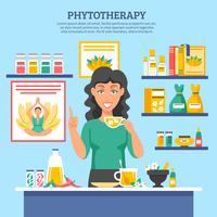 Alternatieve geneeskunde illustratie