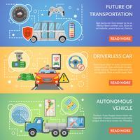 Auto-autonome voertuigbanners zonder bestuurder