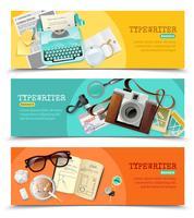 journalist vintage typemachine banners