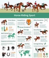 Paardenstijgende Infographics vector