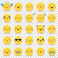 Emoticons transparante set vector