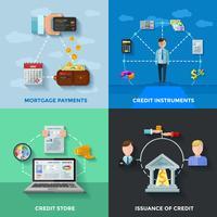 credit rating 2x2 ontwerpconcept vector