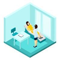 Zwangerschap consultatie illustratie vector