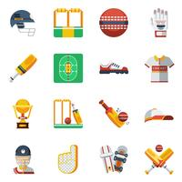 Cricket Icons Set vector