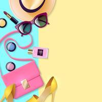 Vrouwen accessoires poster vector
