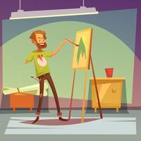 Gehandicapte kunstenaar illustratie