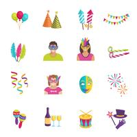 Carnaval pictogram plat vector
