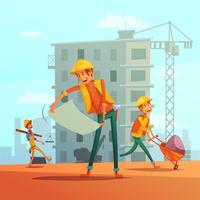 Bouw- en constructie-industrie illustratie