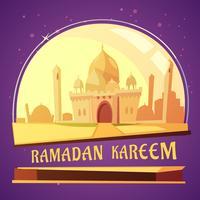 Ramadan Kareem-moskeeillustratie