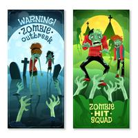 Zombie Banners Set vector