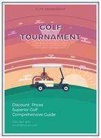 Golftoernooien vlakke poster vector