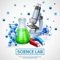 Wetenschappelijk laboratorium ontwerpconcept vector