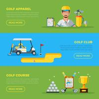 Horizontale golfbanners vector