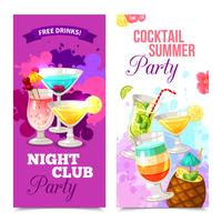 Cocktails partij banners vector