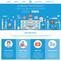 Verpleegkundig beroep advertentie-indeling vector