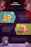 bioscoop infographic set vector