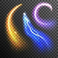 Glitter deeltjes transparante set