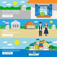 Griekenland banner set vector