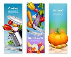 Natuurlijke groenten verticale banners