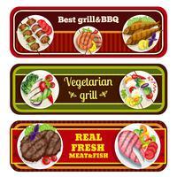Grillgerechten Banners vector