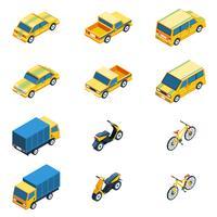 Transport isometrische Set vector