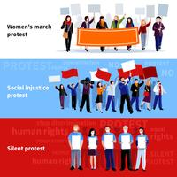 Demonstratie protest mensen banners