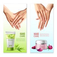 Natuurlijke handcrème 2 realistische banners