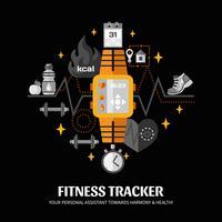 Fitness Tracker Illustratie vector